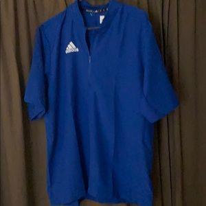 Adidas short sleeve 1/4 Zip